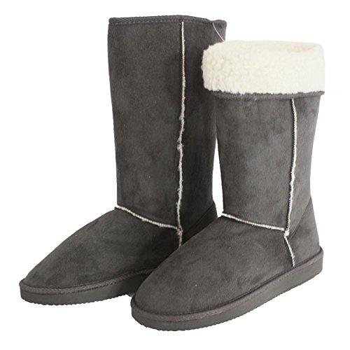 Coolers Mujer Botas Zapatillas gris gris