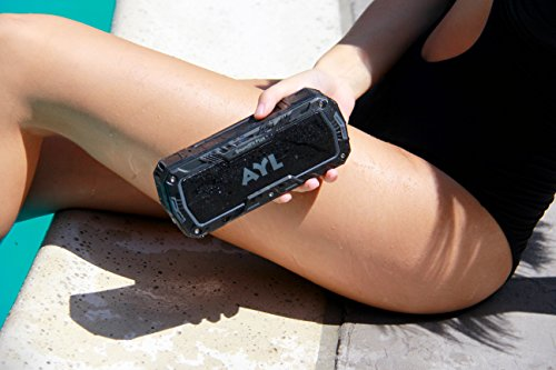 SoundFit Plus Water-Resistant Bluetooth Speaker - Portable Outdoor Wireless Sound System - Features Powerful Bass and Clear Treble - Hands-Free with Built-in Microphone - Dust and Shock Resistant by AYL (Image #1)