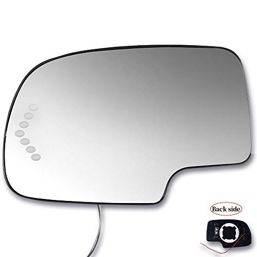 SCITOO Compatible fit for Exterior Mirror Replacement Glasses Driver Left Side Power Heated Signal 2003-2007 Chevrolet Silverado Suburban GMC Sierra Yukon Replacement Tow Mirror ()