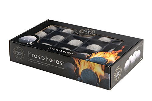 "Bond 50849 Permacoal 3"" Fire Spheres, Outdoor Fire Pits and Fireplaces, Grey"
