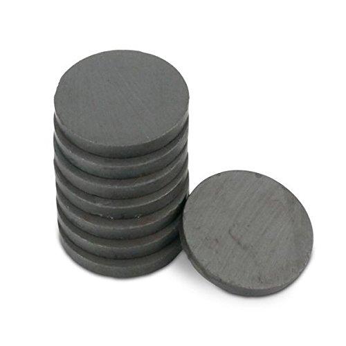 Bastelmagnet Scheibe Magnetscheibe Scheibenmagnet /Ø 30,0 x 4,0 mm Y35 Ferrit h/ält 800 g