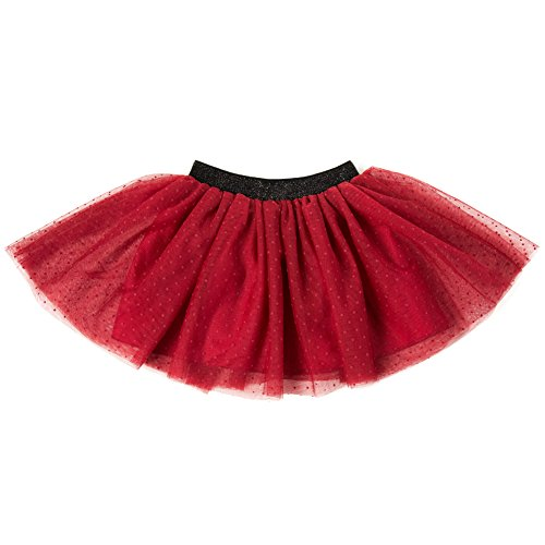 Skirts for Girls:Girls Layered Soft Tutu Skirt Pure Color with Polka Dot (Polka Dot Tulle Skirt)