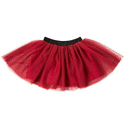 Polka Dot Tulle Skirt (Skirts for Girls:Girls Layered Soft Tutu Skirt Pure Color with Polka Dot)