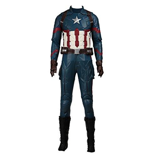 CosplayDiy Men's Suit for Captain America 3 Civil War Cosplay Costume XL