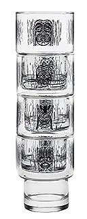 Luminarc 4 Piece Arc International Tiki Decorated Stackable on The Rocks Glasses, 10.5 oz, Clear (B01E5T4AMA) | Amazon price tracker / tracking, Amazon price history charts, Amazon price watches, Amazon price drop alerts