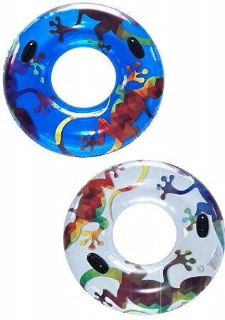 Flotador rueda hinchable circular lizard 115 cm. con asas: Amazon.es: Juguetes y juegos