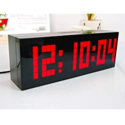 Vinmax Digital Led Clock Wall Alarm Digital Calendar Clock Count Down Timer(red)