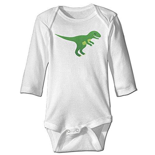 Kamici Baby Cartoon Dinosaur Long Sleeve Romper Suit Climb Clothes White 24 (Michael Jackson Full Costume)