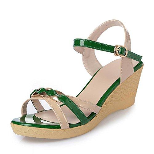 Manera Del De Las Las De Verano De De Green Los TiróN Pista De La Fracasos De Zapatos Mujeres Holgazanes Los Los Sandalias Con EdYIxq