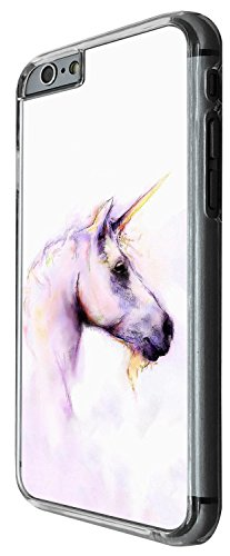 1353 - Cool Fun Trendy cute kwaii nature unicorn horse fantasy whimsical (3) Design iphone 6 Plus / iphone 6 Plus S 5.5'' Coque Fashion Trend Case Coque Protection Cover plastique et métal - Clear