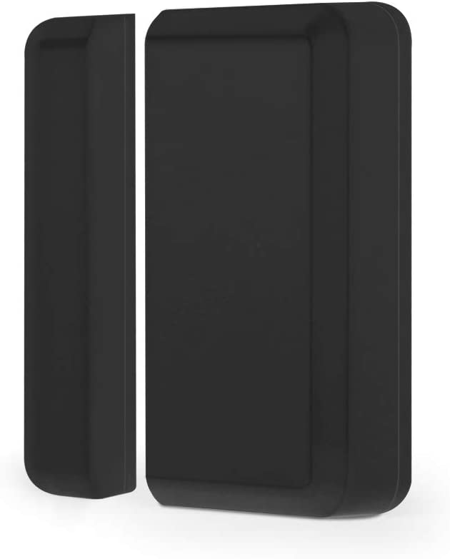 BITIWEND Mini sensor de puerta / ventana para timbre de entrada, inalámbrico, magnético, inalámbrico, detector de paso, sensor de alarma para puerta/ventana, alarma interior (negro)