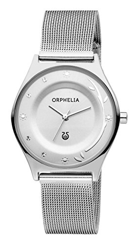 ORPHELIA Women's Analogue Opulent Chic Silver Stainless steel-12601