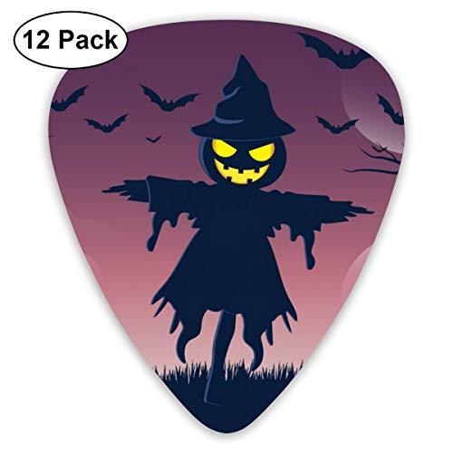 351 Shape Classic Guitar Picks Halloweeen Scarecrow Plectrums Instrument Standard Bass 12 Pack]()