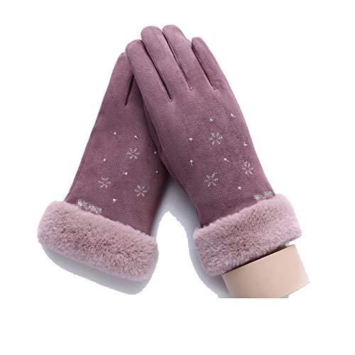 De Mode Rose Femmes Sombre Gants Hiver Flocon Simple Neige Tactile Écran Amdxd EqaYwTY