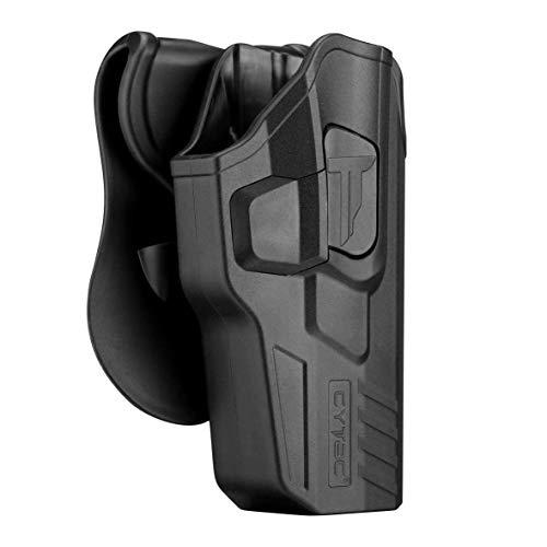 CYTAC OWB Holster Fit Glock 17 22 31 Gen 1 2 3 4 5, Outside The Waistband Paddle Holster - 360° Adjustable, Tactical Pistol Gun Polymer Holster - RH