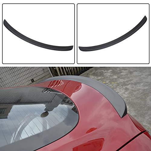 JC SPORTLINE Model S CF Trunk Spoiler, fits Tesla Model S 60D 75D P85 P90D P100D 2012-2019 Carbon Fiber Rear Trunk Lip Spoiler Deck Lid Wing (Matt Black)