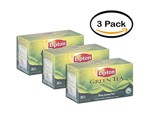 PACK OF 3 - Lipton Pure Green Tea, 20ct (Pack of 6) by Lipton