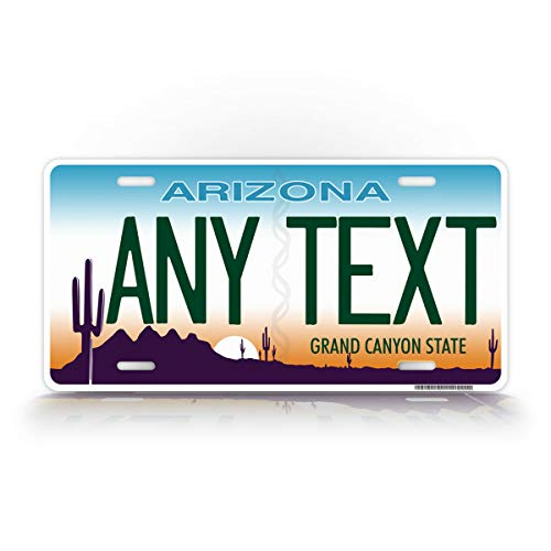License Plate Official - Custom Arizona State License Plate AZ Cactus Auto Tag Official Replica Any Text Personalized Sign