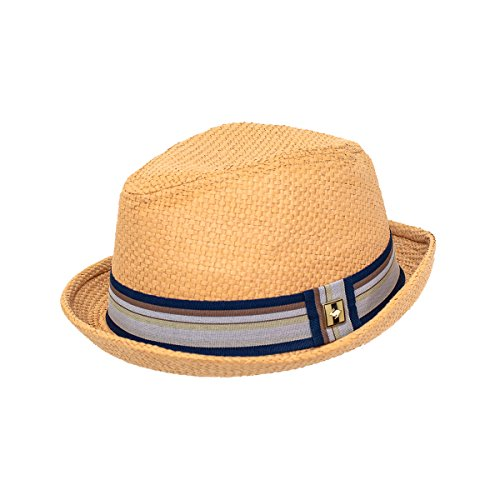 Peter Grimm Depp Natural Straw Fedora - Tan ()
