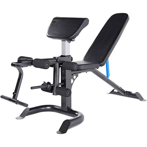 Selva Full Body Workout Machine – Bench Press Arm Preacher Curl Leg Weight Lifting Upright Flat Incline Decline   Heavy Duty Steel Supports 300Lbs Ergonomic Rust Free   for Home Gym Exercise Fitness