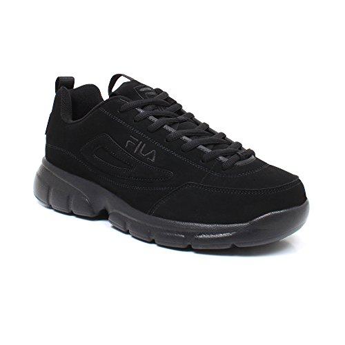 Fila Men's Disruptor SE Training Shoe, Triple Black, 9 M US