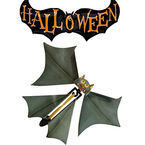 Gbell Halloween Magic Flying Bat Flutter Card Toy, Prank Flying Paper Bats Surprise Card Toys Gift for Kids Boys Girls Adults,1Pcs,11x14CM -