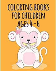 coloring books for children ages 4-6: Coloring Pages with Funny, Easy, and Relax Coloring Pictures for Animal Lovers