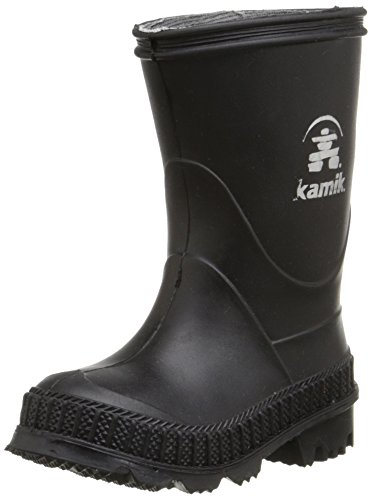 Kamik STOMP/KIDS/PUR/4149F Rain Boot Black, 4 M US Big Kid