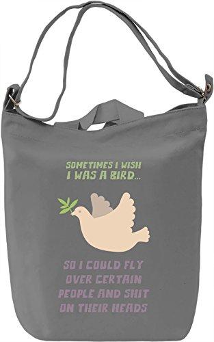I wish i was a bird Borsa Giornaliera Canvas Canvas Day Bag| 100% Premium Cotton Canvas| DTG Printing|