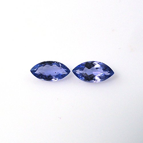 (Natural Tanzanite Approximately 1.00 Carat Marquise Shape 8x4mm Matched pair (7106))