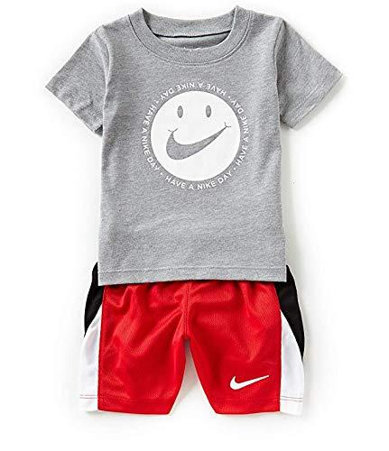 Nike 2-Pc. T-Shirt & Shorts Set, Little Boys (4T) Grey/Red