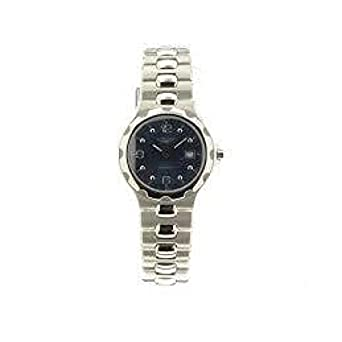 Uhr Longines Damen l15054966 Quarz (Batterie) Stahl Quandrante blau Armband Stahl