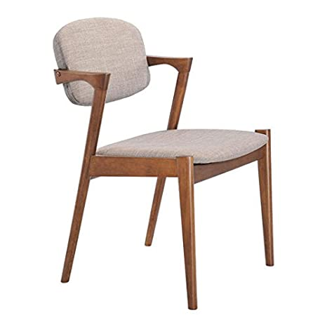 Tremendous Zuo Brickell Dining Chair Set Of 2 Dove Gray Dailytribune Chair Design For Home Dailytribuneorg