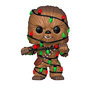 Funko Pop Star Wars: Holiday - Chewie with Lights Collectible Figure, Multicolor - 41Sxb093MhL - Funko Pop Star Wars: Holiday – Chewie with Lights Collectible Figure, Multicolor