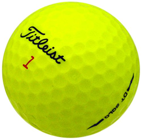 Golf Dt Recycled Balls Solo - Titleist DT Solo Yellow AAAAA Golf Balls (Renewed)