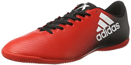 Adidas 16 Homme In Futsal X White core red Black Rouge De 4 ftwr Chaussures rBqxra50