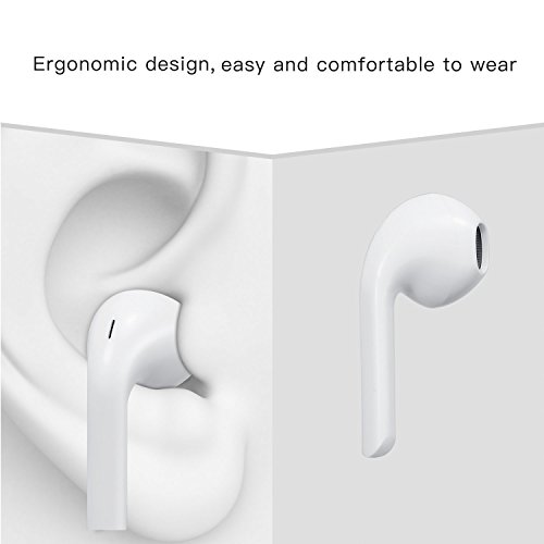 Premium Quality Earphones/Earbuds/Headphones with Stereo Mic and Remote Control Fully Compatible with iPhone iPad iPod Android Smartphones and Other Devices with 3.5mm Jack Plug(2 Pack White). by VOWSVOWS (Image #3)