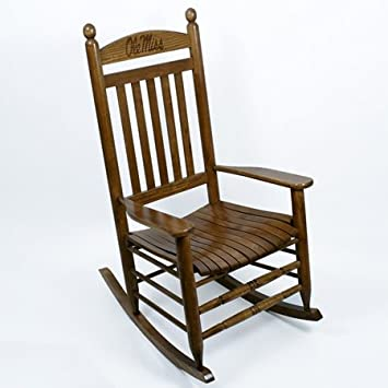Ole Miss Rebels Rocking Chair   Maple Finish By Hinkle Chair Company