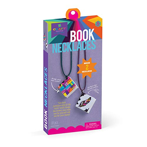 Craft-tastic Book Necklaces Kit - Craft Kit Makes 2 Design-Your-Own Book Necklaces