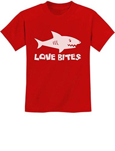 TeeStars - Love Bites Funny Youth Kids T-Shirt Medium Red