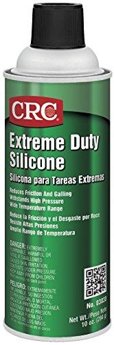 - CRC Extreme Duty Silicone Lubricant, 10 oz Aerosol Can, Clear/White