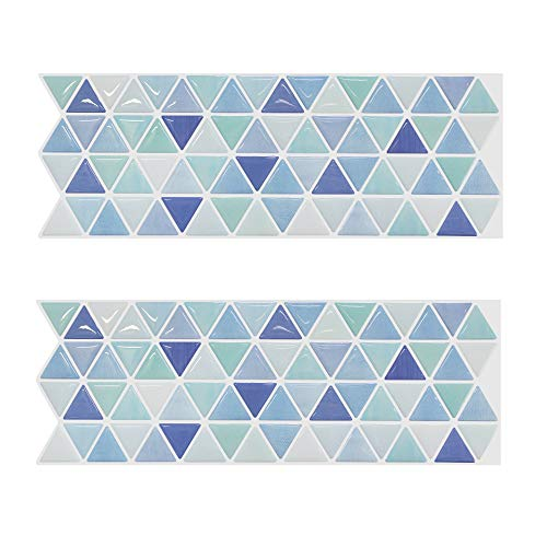 - Beaustile Mosaic 3D Wall Sticker Home Decor Aqua Fire Retardant Backsplash Wallpaper Bathroom Kitchen DIY Design