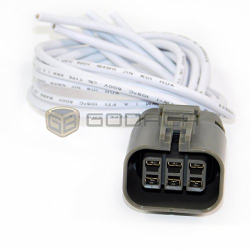 1x Connector pigtail for 6 pin with wire:
