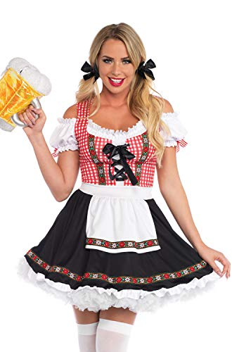 Leg Avenue Womens Beer Garden Babe Oktoberfest Costume, Multi, Large