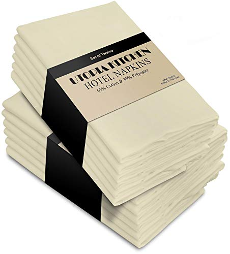 Utopia Kitchen Cloth Napkins (18 inches x 18 inches) - 12 Pack Soft and Comfortable Cotton Dinner Napkins]()
