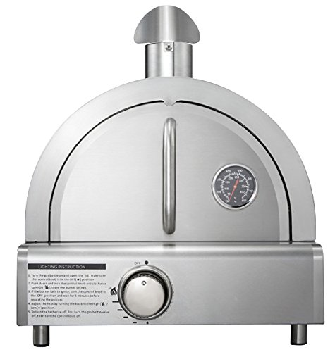 Mont Alpi MAPZ-SS Table Top Gas Pizza Oven, - Outdoor Gas Oven