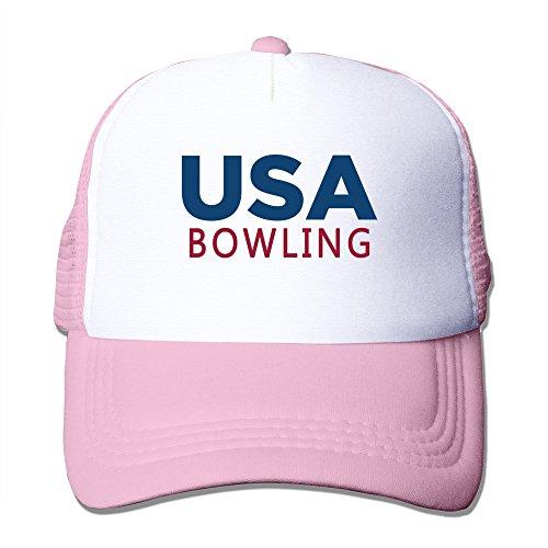 Mens USA Bowling Mesh Back Trucker Cap