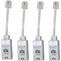 Actiontec Universally Compatible Inline DSL Phone Filters - 4 Pack (FLTR4DSL02)