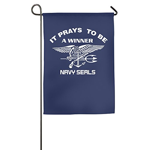 US Navy SEALs It Pays To Be A Winner Indoor Flag House Flag Fashion Garden Flag Outdoor Flag (2 - Clothing Frogman