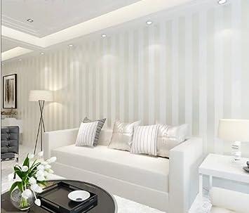 10m Off White Color Modern Minimalist Living Room Bedroom Tv Backdrop Wallpaper Stripe Flocking Non